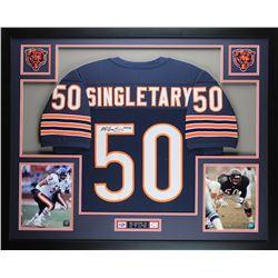 "Mike Singletary Signed Bears 35"" x 43"" Custom Framed Jersey (JSA COA)"