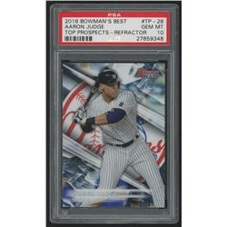 2016 Bowman's Best Top Prospects Refractors #TP28 Aaron Judge (PSA 10)