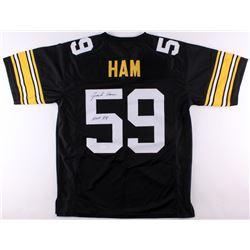 Jack Ham Signed Steelers Jersey Inscribed  HOF 88  (JSA COA)