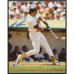Jose Canseco Signed Athletics 8x10 Photo (Beckett COA)