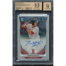 2014 Bowman Chrome Prospect Autographs #BCAPMB Mookie Betts (BGS 9.5)