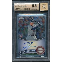 2011 Topps Chrome Rookie Autographs #173 Freddie Freeman (BGS 9.5)