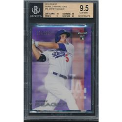 2016 Finest Purple Refractors #58 Corey Seager #174/250 (BGS 9.5)