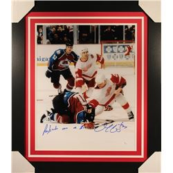 """Darren McCarty Signed Red Wings 23x27 Custom Framed Photo Inscribed """"Paybacks Are A B****"""" (JSA COA)"""
