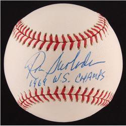 "Ron Swoboda Signed ONL Baseball Inscribed ""1969 W.S. Champs"" (SOP COA)"