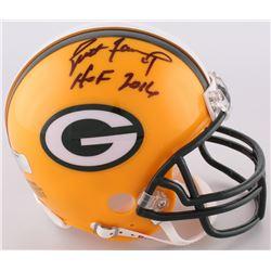 """Brett Favre Signed Packers Mini-Helmet Inscribed """"HOF 2016"""" (Radtke COA)"""