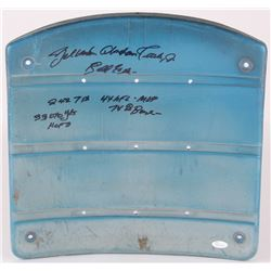 Y. A. Tittle Signed Yankees Stadium Game-Used Seatback with 6 Inscriptions (JSA Hologram)