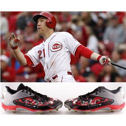 """Todd Frazier Signed 2015 Reds All-Star Season Game-Used Pair of Under Armour Cleats Inscribed """"2015"""