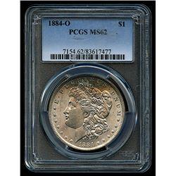 1884-O Morgan Silver Dollar (PCGS MS 62)