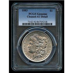 1883 Morgan Silver Dollar (PCGS Genuine AU Details)