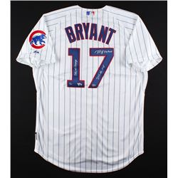 """Kris Bryant Signed Cubs Limited Edition Majestic Authentic Jersey Inscribed """"2016 WS Champs"""",  """"2016"""