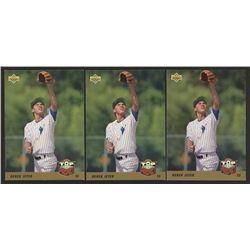 Lot of (3) 1993 Upper Deck #449 Derek Jeter RC