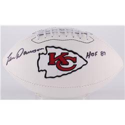 "Len Dawson Signed Chiefs Logo Football Inscribed ""HOF 87"" (Radtke COA)"