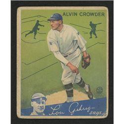1934 Goudey #15 Alvin Crowder