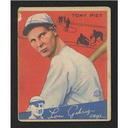 1934 Goudey #8 Tony Piet