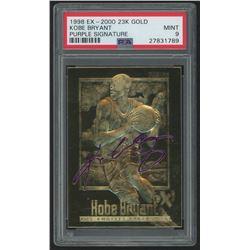 1998 SkyBox Ex-2000 23K Gold Kobe Bryant Purple Signature (PSA 9)