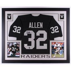"Marcus Allen Signed Raiders 35"" x 43"" Custom Framed Jersey (JSA COA  Allen Hologram)"