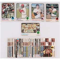 Lot of (30) 1973 Topps Baseball Cards with #245 Carl Yastrzemski, #84 Rollie Fingers, #175 Frank Rob