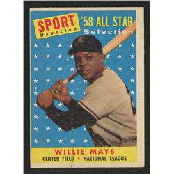 1958 Topps #486 Willie Mays All Star