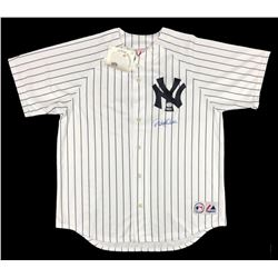 Derek Jeter Signed Yankees Majestic Jersey (Steiner COA  MLB Hologram)
