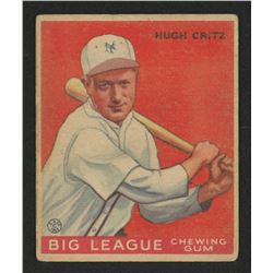 1933 Goudey #3 Hugh Critz BAT RC