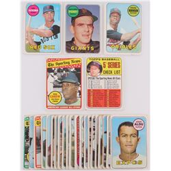 Lot of (26) 1969 Topps Baseball Cards with #485 Gaylord Perry, #419 Rod Carew, #130 Carl Yastrzemski