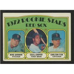 1972 Topps #79 Rookie Stars / Mike Garman / Cecil Cooper RC / Carlton Fisk RC