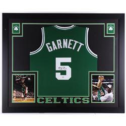 """Kevin Garnett Signed Celtics 35"""" x 43"""" Custom Framed Jersey (PSA COA)"""