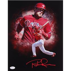 Rhys Hoskins Signed Phillies 11x14 Photo (JSA COA)