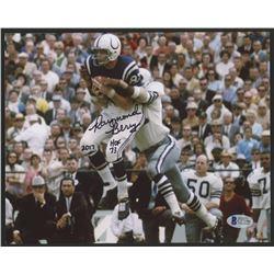 "Raymond Berry Signed Colts 8x10 Photo Inscribed ""HOF 73""  ""2017"" (Beckett COA)"