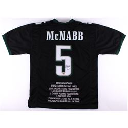 Donovan McNabb Signed Eagles Career Highlight Stat Jersey (CAS COA)