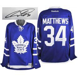 Auston Matthews Signed Maple Leafs Reebok Jersey (Fanatics Hologram)