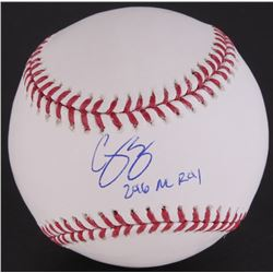 "Corey Seager Signed OML Baseball Inscribed ""2016 NL ROY"" (Fanatics Hologram)"