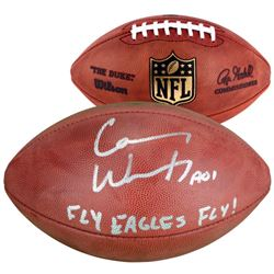 Carson Wentz Signed  The Duke  Official NFL Game Ball Inscribed  Fly Eagles Fly!  (Fanatics)