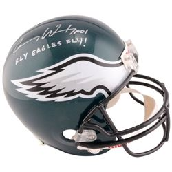 Carson Wentz Signed Eagles Full-Size Helmet Inscribed  Fly Eagles Fly!  (Fanatics)