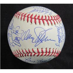 1986 Mets OML Baseball Signed by (30) with Davey Johnson, Bud Harrelson, Jesse Orosco, Darryl Strawb
