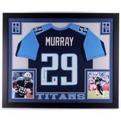 DeMarco Murray Signed Titans 35x43 Custom Framed Jersey (JSA COA  Murray Hologram)