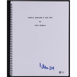"Matthew Broderick Signed ""Ferris Bueller's Day Off"" Full Movie Script (Beckett COA)"