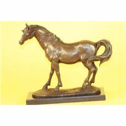 ORIGINAL MILO FINE STALLION HORSE BRONZE SCULPTURE