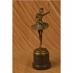 Aldo Vitaleh Prima Ballerina Bronze Sculpture Art Deco Marble Base Figurine Gift