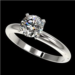 1.26 CTW Certified H-SI/I Quality Diamond Solitaire Engagement Ring 10K White Gold - REF-245X5T - 36