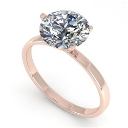 2.01 CTW Certified VS/SI Diamond Engagement Ring 14K Rose Gold - REF-929T3X - 30582
