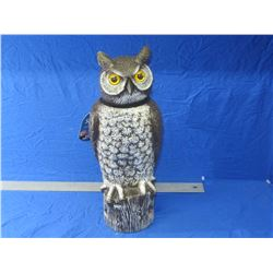 """18"""" tall owl with rotating head"""