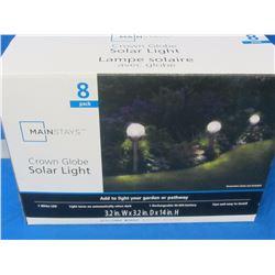 "Solar lights 8 pack 14"" high new"