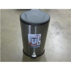 Stainless steel garbage bin with