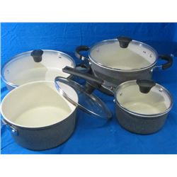 The Rock 8pc set / 3 pots and