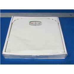 White weigh scale