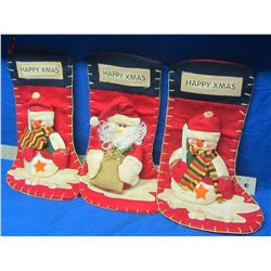 Lot of 3 New Stockings 22'