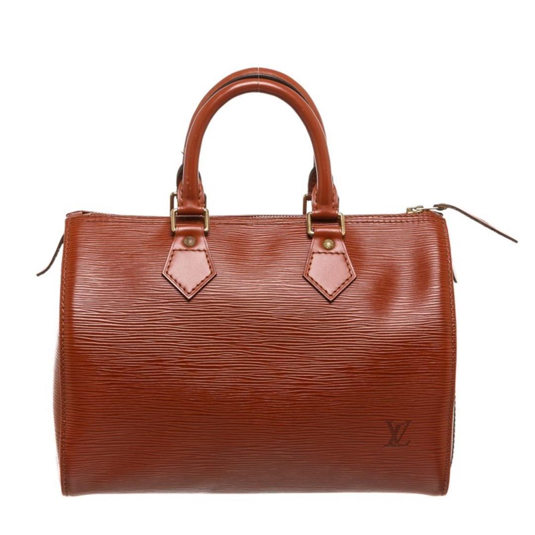 Image 1   Louis Vuitton Sienna Brown Epi Leather Speedy 25 cm Satchel Bag  ... 00bf852c0f443