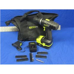 New Power it 18 Volt drill kit